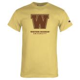 Champion Vegas Gold T Shirt-Western Michigan University w/ W