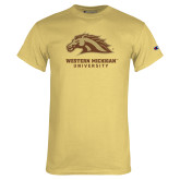 Champion Vegas Gold T Shirt-Western Michigan University w/ Bronco Head