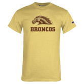 Champion Vegas Gold T Shirt-Broncos w/ Bronco Head