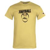 Champion Vegas Gold T Shirt-WMU Football Slanted w/ Ball