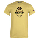 Champion Vegas Gold T Shirt-Western Michigan Bronco Football w/ Ball