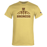 Champion Vegas Gold T Shirt-Broncos Basketball Half Ball