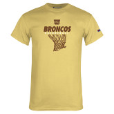 Champion Vegas Gold T Shirt-Broncos Basketball Hanging Net