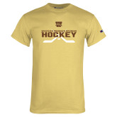 Champion Vegas Gold T Shirt-Hockey w/ Crossed Sticks