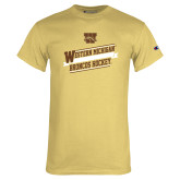 Champion Vegas Gold T Shirt-Western Michigan Broncos Hockey