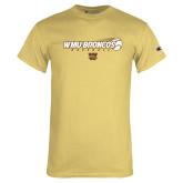 Champion Vegas Gold T Shirt-WMU Broncos Baseball w/ Flying Ball
