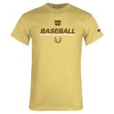 Champion Vegas Gold T Shirt-Western Michigan University Baseball Flat