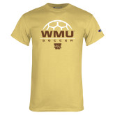 Champion Vegas Gold T Shirt-WMU Soccer Half Ball