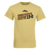 Champion Vegas Gold T Shirt-Undefeated Season Football 2016