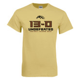 Champion Vegas Gold T Shirt-13-0 Undefeated Football Season 2016