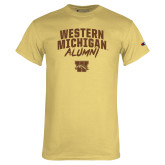 Champion Vegas Gold T Shirt-Arched Western Michigan Alumni