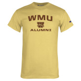 Champion Vegas Gold T Shirt-Arched WMU Alumni