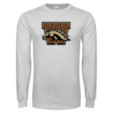 White Long Sleeve T Shirt-W w/ Bronco