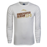 White Long Sleeve T Shirt-Undefeated Season Football 2016