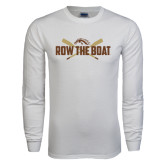 White Long Sleeve T Shirt-Row the Boat