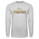 White Long Sleeve T Shirt-It Takes Sev7n