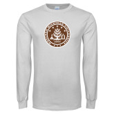 White Long Sleeve T Shirt-WMU Seal