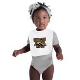 White Baby Bib-W w/ Bronco