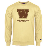 Champion Vegas Gold Fleece Crew-Western Michigan University w/ W