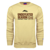 Champion Vegas Gold Fleece Crew-Undefeated Season 13-0 Football 2016