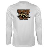 Syntrel Performance White Longsleeve Shirt-W w/ Bronco