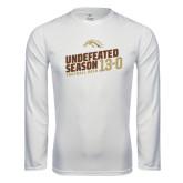 Syntrel Performance White Longsleeve Shirt-Undefeated Season Football 2016