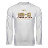 Syntrel Performance White Longsleeve Shirt-13-0 Undefeated Football Season 2016