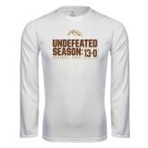 Syntrel Performance White Longsleeve Shirt-Undefeated Season 13-0 Football 2016