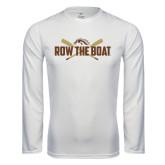 Syntrel Performance White Longsleeve Shirt-Row the Boat