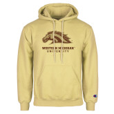 Champion Vegas Gold Fleece Hoodie-Western Michigan University w/ Bronco Head