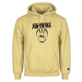 Champion Vegas Gold Fleece Hoodie-WMU Football Slanted w/ Ball