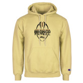 Champion Vegas Gold Fleece Hoodie-Western Michigan Bronco Football w/ Ball