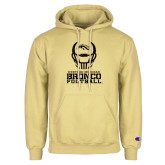 Champion Vegas Gold Fleece Hoodie-Western Michigan Bronco Football w/ Helmet