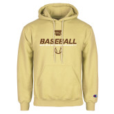 Champion Vegas Gold Fleece Hoodie-Western Michigan University Baseball Flat