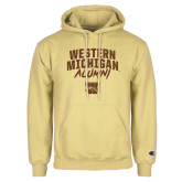 Champion Vegas Gold Fleece Hoodie-Arched Western Michigan Alumni