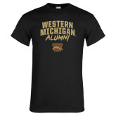 Black T Shirt-Arched Western Michigan Alumni
