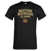 Black T Shirt-Arched Western Michigan Alumni