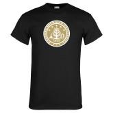Black T Shirt-WMU Seal Gold