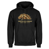 Black Fleece Hoodie-Western Michigan University w/ Bronco Head