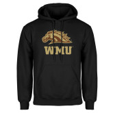 Black Fleece Hoodie-WMU w/ Bronco Head