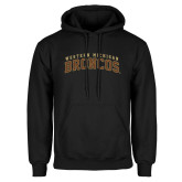 Black Fleece Hoodie-Arched Western Michigan Broncos