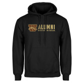 Black Fleece Hoodie-Western Michigan Alumni Stacked