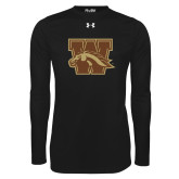 Under Armour Black Long Sleeve Tech Tee-W w/ Bronco