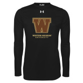 Under Armour Black Long Sleeve Tech Tee-Western Michigan University w/ W