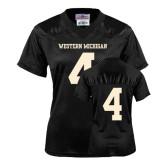 Ladies Black Replica Football Jersey-#4