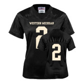 Ladies Black Replica Football Jersey-#2