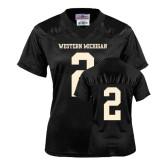 Ladies Black Replica Football Jersey-#2