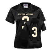 Ladies Black Replica Football Jersey-#3