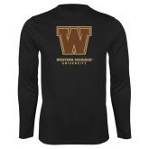 Performance Black Longsleeve Shirt-Western Michigan University w/ W