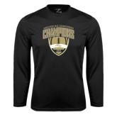 Syntrel Performance Black Longsleeve Shirt-2016 Marathon MAC Football Champions
